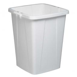Abfall- und Wertstoffbehälter, eckig, 90 Liter, BxTxH 520x490x610 mm, weiß