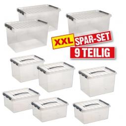 Clipboxen-Set aus Polypropylen, 9-teilig
