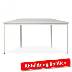 Trapeztisch, Lichtgrau, BxTxH 1600/800 x 800 x 750 mm