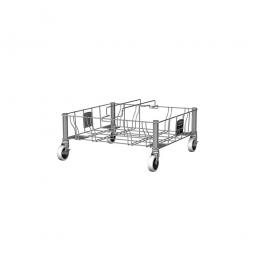 """""""Slim Jim"""" Rollwagen aus Edelsathl, zweifach, BxTxH 523 x 508 x 228 mm"""