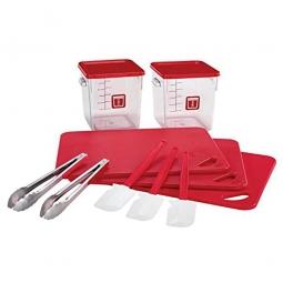 12 Teiliges Rubbermaid Küchen-Set, rot