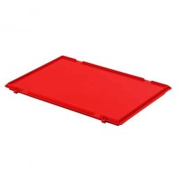 Scharnierdeckel für Euro-Stapelbehälter, LxB 600 x 400 mm, Farbe rot