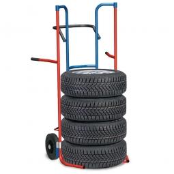 Reifenkarre mit Vollgummibereifung, für Rad-Ø 540-820 mm, BxTxH 723 x 772 x 1487 mm