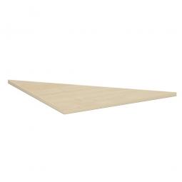 Dreieck-Verkettungsplatte 90° PREMIUM, Ahorn/Silber, BxT 800x800 mm