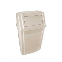 """""""Slim Jim"""" Wand-Abfallbehälter, Inhalt 56,8 Liter, beige"""