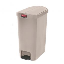 Tretabfalleimer SlimJim, 50 Liter, beige, LxBxH 528x344x721 mm, Polyethylen, Pedal an der Schmalseite