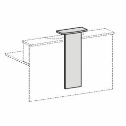 """Design-Aufsatz für Empfangstheke """"SUPERIOR"""", Farbe lichtgrau, BxH 320/500x1012 mm"""