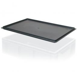 Auflagedeckel für leitfähiger Stapelbehälter, LxB 600 x 400 mm, schwarz