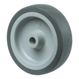 Gummirad, Rad-ØxB 100x24 mm, Tragkraft 60 kg, grau