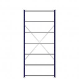 Ordner-Steck-Grundregal, doppelseitige Ausführung, HxBxT 2300x1070x630(2x315) mm, Oberfläche kunststoffbeschichtet