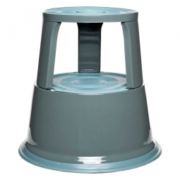 Rollhocker aus Stahlblech, lichtgrau, Tragkraft 150 kg, ØxH 290/440x430 mm