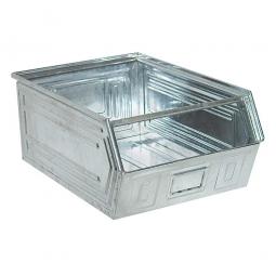 Sichtbox SB0 aus Stahlblech, 83 Liter, LxBxH 700/630 x 450 x 300 mm, feuerverzinkt