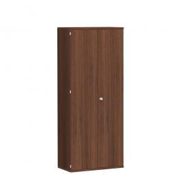Garderobenschrank PRO, Nussbaum, BxTxH 800x425x1920 mm, 1 Fachboden, 1 Kleiderstange