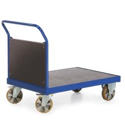 Stirnwandwagen mit Holzwand, LxBxH 2190x800x1050 mm, Tragkraft 2200 kg