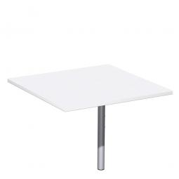 Volleck-Verkettungsplatte 90° PREMIUM, Weiß/Silber, BxT 800x800 mm