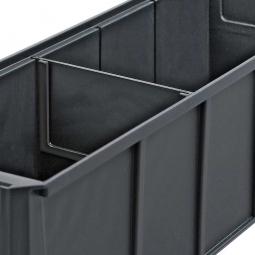 Querteiler für Regalkästen PROFI B 91 mm, transparent, VE=10 Stück