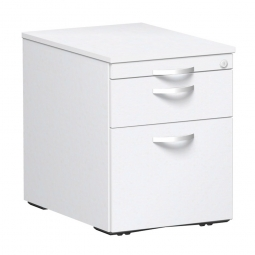 Rollcontainer, 3 Stahlschubladen, weiß, BxTxH 438 x 600 x 565 mm