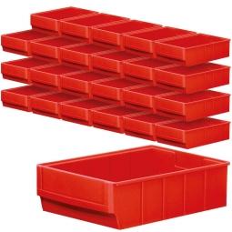"""Regalkasten-Set """"Profi"""", 24-teilig, rot, LxBxH 300 x 183 x 81 mm, Polypropylen-Kunststoff (PP), Gewicht 275 g"""