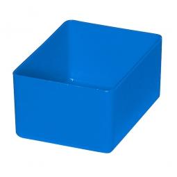 Einsatzkasten für Schubladen, blau, LxBxH 106x80x54 mm, Polystyrol-Kunststoff (PS)