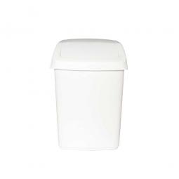 Schwingdeckel-Abfallbehälter, 25 L, weiß