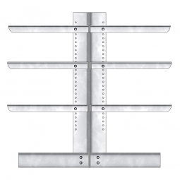 Kragarmregal, doppelseitige Ausführung, BxTxH 2210 x 2x400 x 2000 mm, Gesamt-Tragkraft 4080 kg