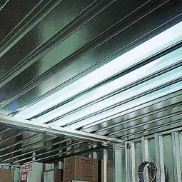 Dachlichtband für Container, BxL 800x2350 mm, PVC