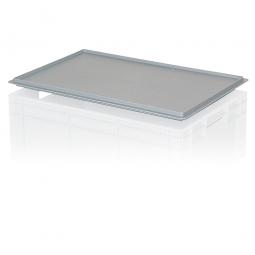 Auflagedeckel für Euro-Stapelbehälter, LxB 600x400 mm, grau, Gewicht 900 g