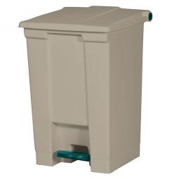 Tret-Abfallbehälter, 45 Liter, beige, BxTxH 415x400x600 mm