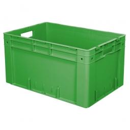 Schwerlast-Eurobehälter, geschlossen, PP, LxBxH 600 x 400 x 320 mm, 60 Liter, 2 Durchfassgriffe, grün