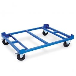 Fahrgestell, LxBxH 1220x1020x330 mm, Tragkraft 1000 kg, Rad-ØxB 200x50 mm, Elastic-Vollgummi-Reifen