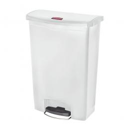 Tretabfalleimer Slim Jim, 90 Liter, weiß, LxBxH 570 x 353 x 826 mm