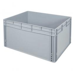 Eurobehälter mit 2 Griffleisten, LxBxH 800 x 600 x 420 mm, 175 Liter, grau