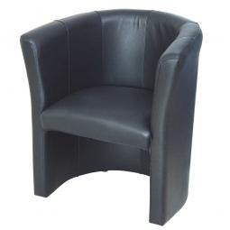 "Sessel ""Classic"", Leder, BxTxH 710 x 620 x 770 mm, 1-Sitzer, schwarz"