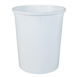 Rundtonne, 150 Liter, Ø oben/unten 615/490 mm, Höhe 705 mm, weiß