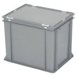 Eurobehälter mit Scharnierdeckel, LxBxH 400 x 300 x 330 mm, 31 Liter, grau