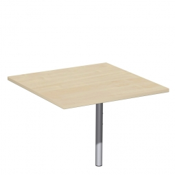 Volleck-Verkettungsplatte 90° PREMIUM, Ahorn/Silber, BxT 800x800 mm