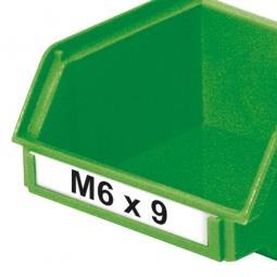 Beschriftungs-Etiketten für Sichtbox CLASSIC FB6, weiß, VE=100 Stück