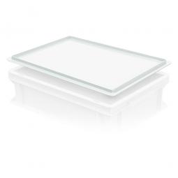 Auflagedeckel für Euro-Stapelbehälter, LxB 400x300 mm, weiß, Gewicht 450 g