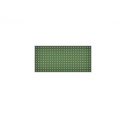 System-Lochplatte, BxH 1000x450 mm, Aus 1,25 mm Stahlblech, kunststoffbeschichtet in resedagrün