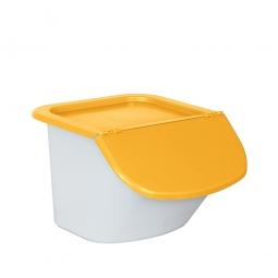 Zutatenspender, PP, LxBxH 440 x 400 x 280 mm, 15 Liter, weiß/orange