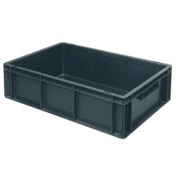 Leitfähiger Stapelbehälter, 2 Griffleisten, LxBxH 600 x 400 x 220 mm, 43 Liter, schwarz