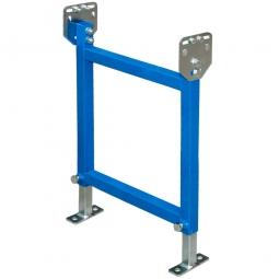 Doppelständer für Röllchenbahnen, Rollenbahnbreite 500 mm, Gesamthöhe 870 - 1350 mm, Lackierung in Farbe blau RAL 5015