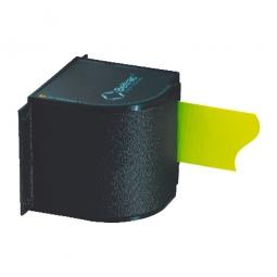 Gurtmagazin für Wandbefestigung, schwarz, Gurtauszug 3500 mm, ausziehbar