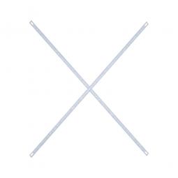 Steckregal-Diagonalkreuz, verzinkt, zur zusätzlichen Längsstabilisierung und Standsicherheit