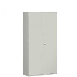 Garderobenschrank PRO, lichtgrau, BxTxH 1000x425x1920 mm, 5 Fachböden, 1 Kleiderstange