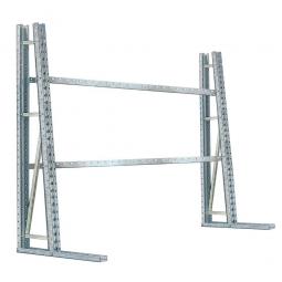Vertikalregal, einseitig, BxTxH 2670 x 700 x 2430 mm, 3 Querträger