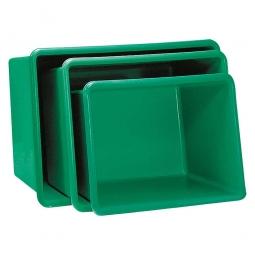 Rechteckbehälter aus GFK, Inhalt 400 Liter, grün, LxBxH 1190x790x600 mm, Gewicht 17 kg