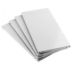 Fachboden für Regale mit Schraubsystem, kunststoffbeschichtet, BxT 1300 x 400 mm, Farbe lichtgrau RAL 7035