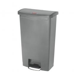 Tretabfalleimer SlimJim, 68 Liter, grau, LxBxH 500x311x803 mm, Polyethylen, Pedal an der Breitseite