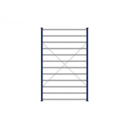Fächerregal Flex, Stecksystem, kunststoffbeschichtet, BxTxH 1270 x 315 x 2000 mm